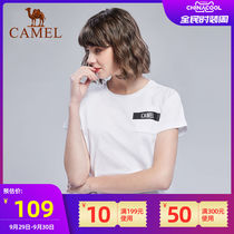 Camel sports short-sleeved women's fashion wild casual shirt personality hit color cotton T shirt T shirt