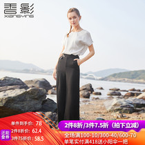 Solid color chiffon blouse female Xiangying 2019 summer new fashion Korean loose Western style small shirt casual wild