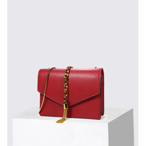 Small CK bag handbag new 2019 messenger bag envelope bag tassel shoulder chain small square bag flagship store official website