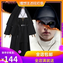 The nun ghost nun cos Halloween costumes deceptive nun priest robe cosplay nun costumes
