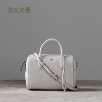 Choi Leather imported fog head layer cowhide Boston single shoulder oblique carry leather female bag original handmade