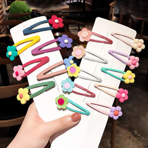 Color 泫 ya flower hairpin bb clip ins card Female Network Red small clip cute headdress Sen Xian hair card