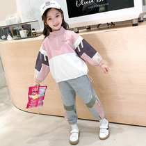 Girls Set 2019 autumn new Korean casual childrens long-sleeved stylish sports two-piece