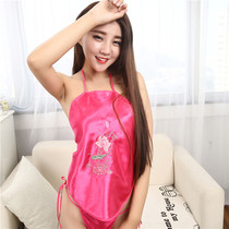 1ab2aa380ad8 Bellyband lady sexy adult set temptation Sao pajamas underwear retro ethnic  wind embroidery classical red bellyband