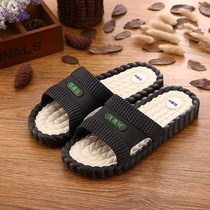 Slippers male bath sandals slippers black summer wear personality fitting room youth home summer indoor slippers