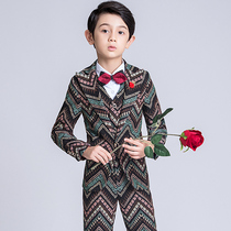 Children's Suit Suit Boy small suit flower girl dress male catwalk piano costume British wind handsome boy