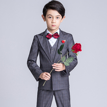 Children's suit flower girl dress male British style three-piece suit boy suit small host piano costume autumn and winter