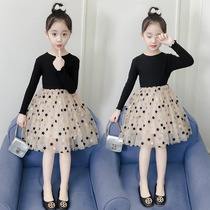 Girls dress 2020 spring new Korean version of children's clothing large children's skirt spring and autumn little girl yangqi princess skirt