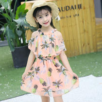 Girls dress 2019 new summer children's clothing children's chiffon princess dress girl Korean summer style skirt