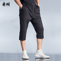 Italy tree original Chinese wind casual pants men's summer 2019 New straight pants solid color youth pants high waist