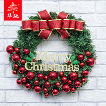 Huachi 30-60cm new Christmas wreath bow section window lintel ornaments Christmas decorations circle