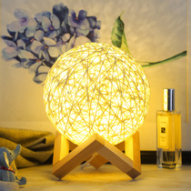 Girl heart lamp net red room layout Sen ins net red light rattan ball lamp soft sister Room Decoration night light