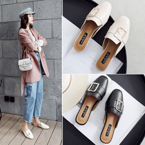 Half slippers female summer fashion wear net red flat lazy shoes 2019 New Baotou no heel chic women sandals