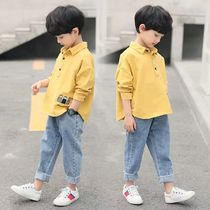 Children's clothing boy autumn Set 2019 new large children's children's two-piece children's spring and autumn boy tide