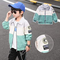 Boy jacket 2019 new spring and autumn models children's Korean version of the tide of foreign-style jacket 5 large children Autumn autumn coat 8