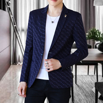 Suit mens self-cultivation handsome 2019 spring and summer leisure youth Korean version of the small suit jacket trend single shirt