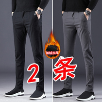 Mens Pants Fall new 2018 casual Pants male trend Korean version loose hundred slimming trousers mens small feet pants