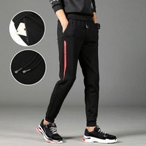 2019 spring new sports pants mens trousers shut foot Korean version of the trend of self-cultivation feet students casual pants