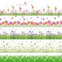 Skirting decorative lace stickers grass wall stickers wall corner block decoration glass stickers waist line wall paper