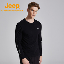 jeep flagship store official genuine Jeep men's round neck men's shirt bottoming shirt long-sleeved T-shirt men's autumn Tide brand