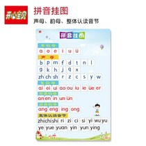 Childrens Pinyin consonant vowel silent wall chart full set of first grade children 26 English alphabet wall stickers