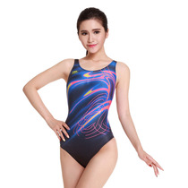 4efb677428 British hair Sai brand professional swimsuit ladies one-piece triangle  swimsuit s8166 digital printing ladies