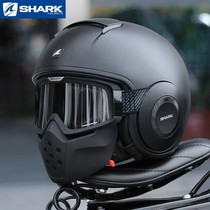 Original imported French shark shark four seasons ghost retro ghost mask motorcycle racing helmet