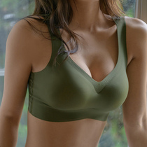 Sports bra shockproof summer no rims gather underwear female stereotypes bra no trace thin section breathable