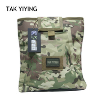 The outdoor recycling bag folding debris bag storage bag tactical vest vice bag molle accessory bag
