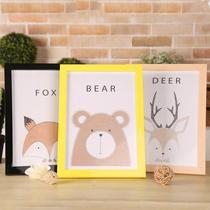 Baby poster shop Brown desktop photo frame decoration A4 thickening certificate parent-child vertical new narrow side size outside