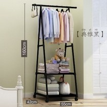 A iron frame assembly simple home bedroom floor three-dimensional column coat rack office hanging clothes bag jacket