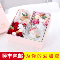 Valentines Day gift female surprise 520 rose to send girlfriend girlfriend creative birthday gift bouquet gift box