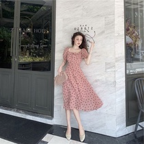 2019 summer Wave Point Fashion Trend womens temperament egg skirt French first love light wind elegant wind dress