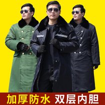 Military cotton coat male winter long section plus velvet thick winter clothing warm genuine labor cotton clothing