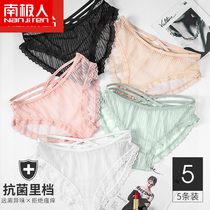 Antarctic panties sexy lace hot hollow ladies underwear low waist girls briefs transparent gauze cents