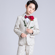 Children's Suit Suit Boy small suit in the big three sets of catwalk costumes piano boy British style autumn