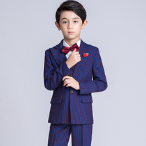 Children's Suit Suit flower girl dress Boy small suit British style three-piece handsome boy piano costume