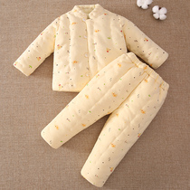 Baby handmade cotton baby cotton cotton jacket cotton pants suit children's clothing thick cotton Winter Winter
