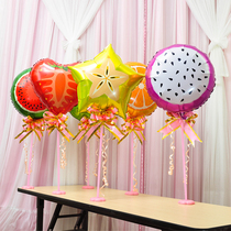 Baby childrens birthday party classmates party girlfriends parents birthday arrangement fruit aluminum balloon table floating column