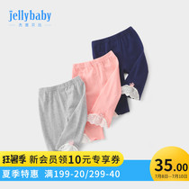 Girls 7 pants 0 a 1 year old baby pants summer children Summer children 3-6 baby leggings female summer thin section