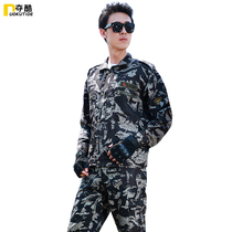 Outdoor Black Hawk camouflage suit mens summer military uniform mens special forces fan field training wear-resistant work clothes