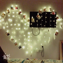 LED lights flashing lights string lights girl heart curtains hanging light photo wall background clip love decoration romantic arrangement