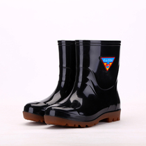 Wear-resistant rain boots mens water shoes rain boots water boots non-slip waterproof in the Tube Fishing plastic shoes labor insurance shoes large size shoes