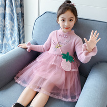 Han girls fall 2019 children's costume Super fairy dress Chinese style long-sleeved style Princess sweater dress