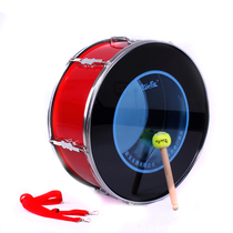 Military drum Xinbao 22 24-inch outer ring bright red brigade army drum adult stainless steel military band drum instruments