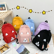 Primary school bag female lightweight waterproof nylon travel backpack cartoon cute dog Junior High School students campus backpack