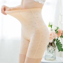 Summer ultra-thin high waist abdomen waist waist hip postpartum shaping underwear safety anti-light cotton crotch lady