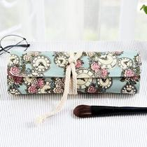 Makeup brush storage bag roll cloth canvas portable bag makeup brush bag empty sleeve portable roll pen bag