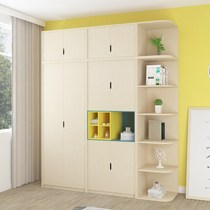 Wardrobe bedroom simple modern economy two-door three-door wardrobe with corner cabinet plus top cabinet Assembly large wardrobe