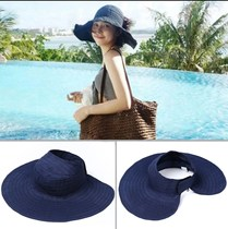 Hat female Korean version of the spring and summer wild sun visor can be folded empty roof canopy sunscreen sun hat anti-UV tide